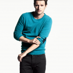 Teal sweater with detailed elbows