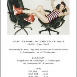 Marc Jacobs Sample sale invite