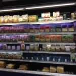The fresh pasta shelves